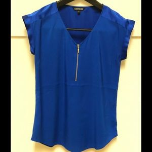 Express Tops - Royal blue blouse!